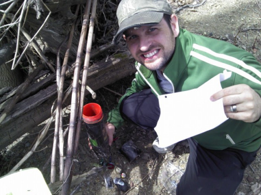 Phillip Roberts found a large, traditional cache in Dansbury, PA.
