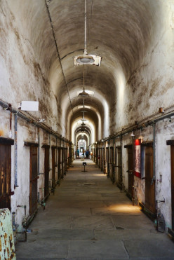 A photo of the inside of the penitentiary. Notice how old and crumbling the inside looks...the perfect setting for a haunting.