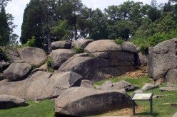 A beautiful photo of Devils Den,one of the most haunted spots in Gettysburg, as it looks today.