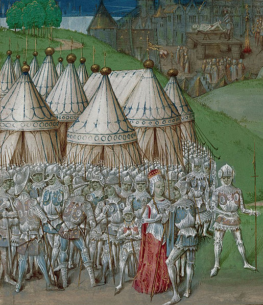 Isabella and Mortimer with their troops