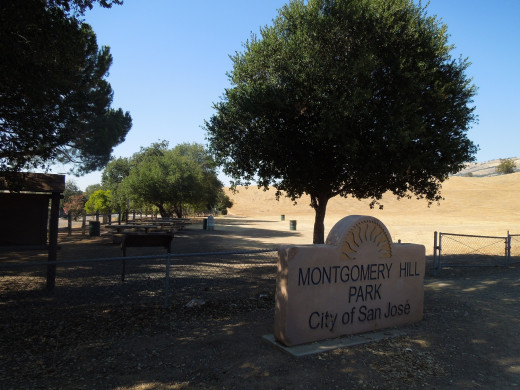 Montgomery Hill Park in San Jose CA - Entrance and Picnic Area by Evergreen Valley College
