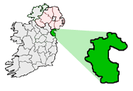 Map location of County Louth, Ireland