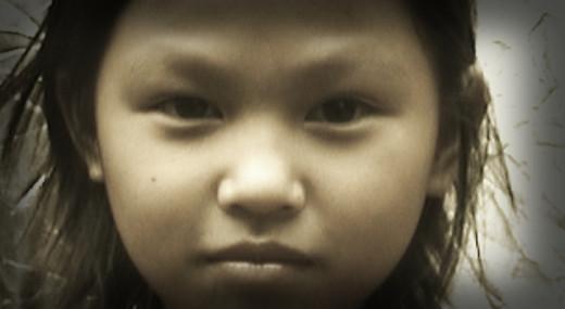 A Penan child
