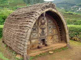 1. A Hut of Toda Tribes of South India*