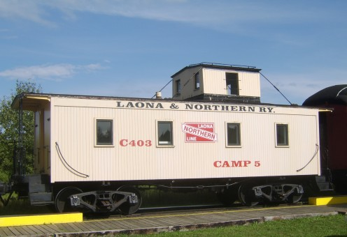 A caboose was a fun way to ride.