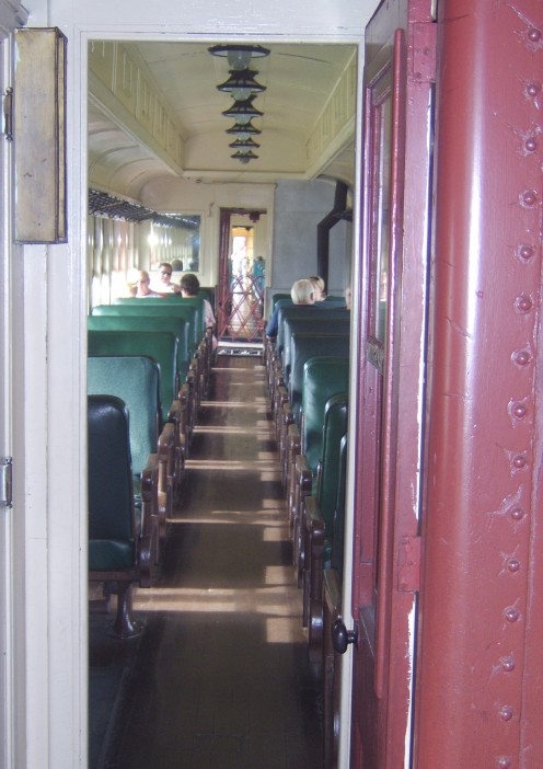 Coach seating from an earlier era.