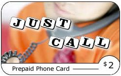 Just Call Phone Card from Speedy Pin