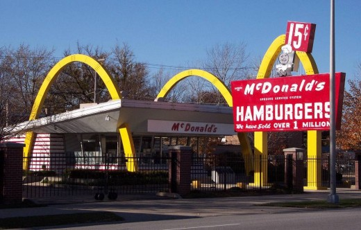 The first McDonald's chain restaurant.  Who knew what lie ahead?