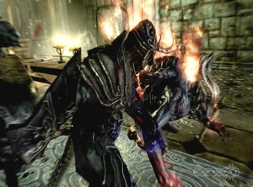 Screen shot from Skyrim Dawnguard