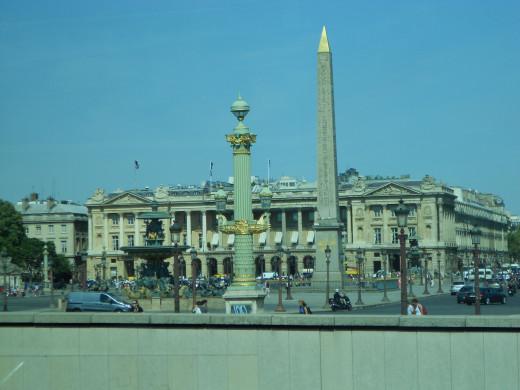 Place de la Concorde from the city bus
