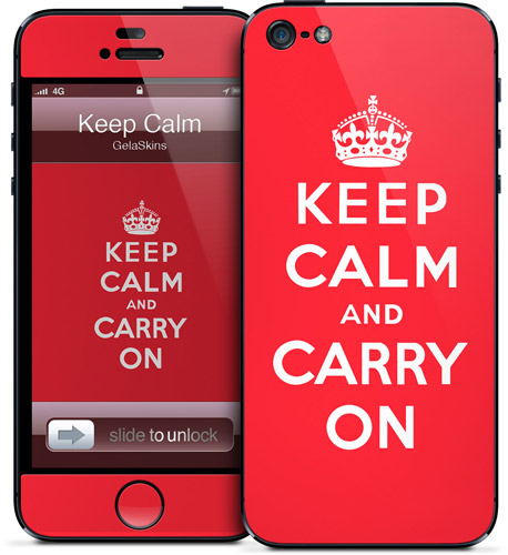 Keep calm and carry on says this particular iphone 5 case