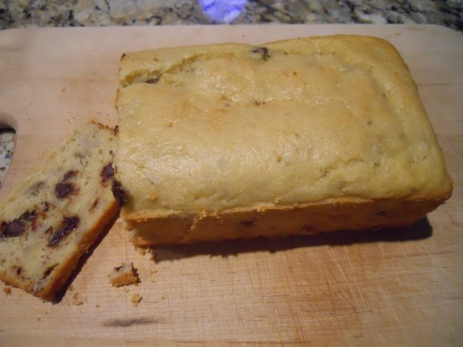Loaf of gluten free banana bread