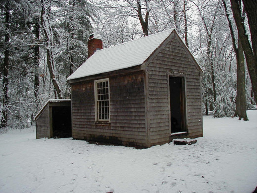 Replica of Thoreau's cabin at Walden Pond