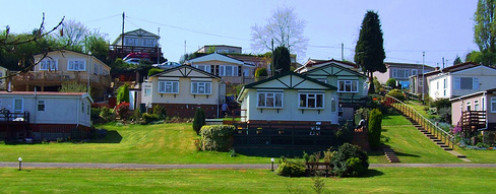 Housing development for manufactured homes.