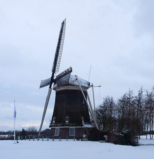 Dutch windmill built in 1757.
