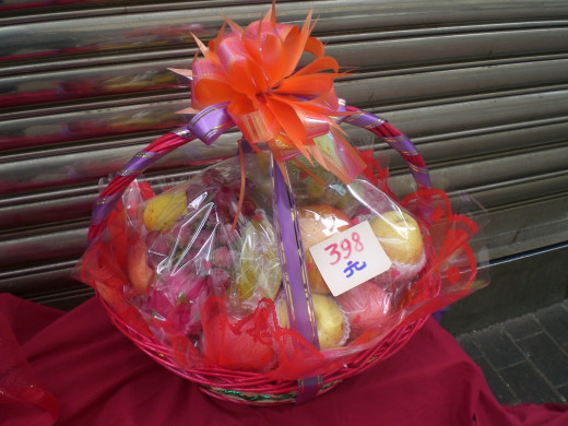 A gift basket can be large or small.  The main thing is an attitude of appreciation and goodwill.