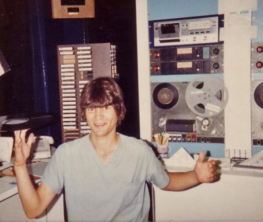 Me on the air in Washington in 1981.