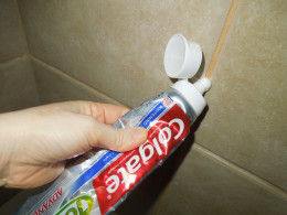 Applying Toothpaste on Tile Grout