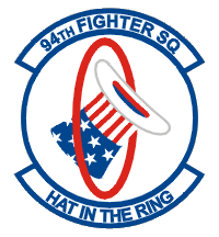 The 94th still exists, as the 94th Fighter Squadron, one of the oldest in the US Air Force, and still has the hat in the ring as its emblem.