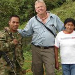 Steve with indigenous woman and soldier