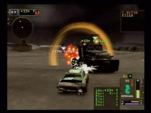 Twisted Metal was a video game for the Playstation that had many sequels. It is rated M for Mature audiences.