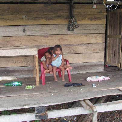 THESE CHILDREN FEND FOR THEMSELVES, WHILE THEIR PARENTS WORK FOR POVERTY WAGES, IN A CANADIAN GOLD MINE, IN CHOCO COLOMBIA