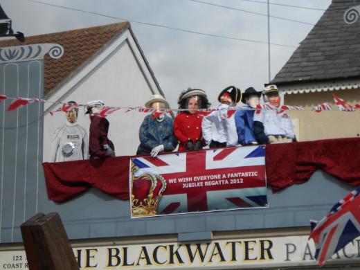 Regatta Week at West Mersea 2012 - patriotic support for team GB