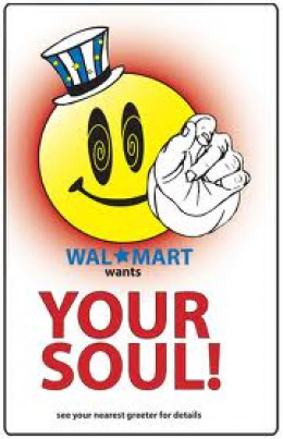 """I do not own this image.  It was obtained through a Google search using key words """"Wal-mart is evil."""""""