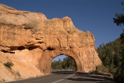 Famously gorgeous Highway 12 Scenic All American Road in Southern Utah, near Red Canyon.
