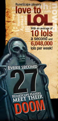 Photo credit: Runescape is a Scary Place - statistics from runescape.com, the official RS homepage