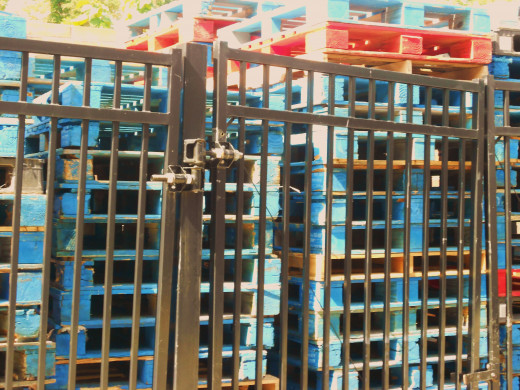 Some businesses control costs by re-using pallets.  These are obviously part of re-use program and not available for projects.