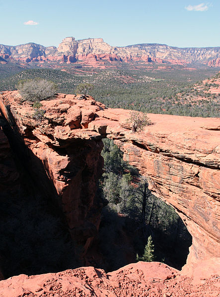 "An area known as ""Devil's Bridge"" on the road to Sedona, Route 179 near Sedona, Arizona."