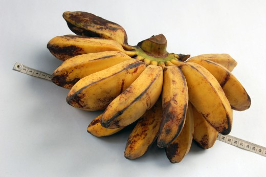 Bananas beginning to ripen add a sweet flavor to baked goods