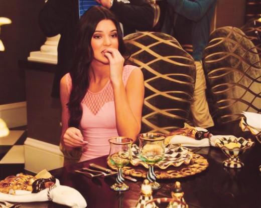 Kendall Jenner Eating Dinner