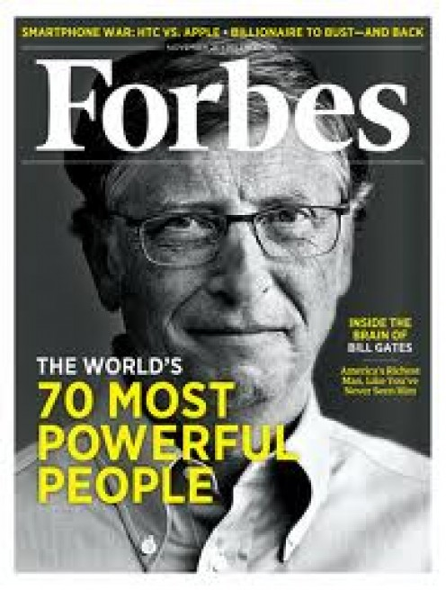 Bill Gates on Forbes Magazine. Gates has been on the cover several times. He is always on Forbes list of the richest people in the world.
