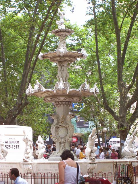 Fountain in Matriz Square, Montevideo