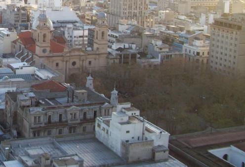 Matriz Square (Constitution Square), in the Old City, Montevideo, Uruguay