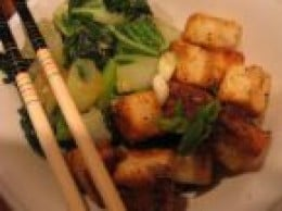 Stir-fried Tofu and Greens