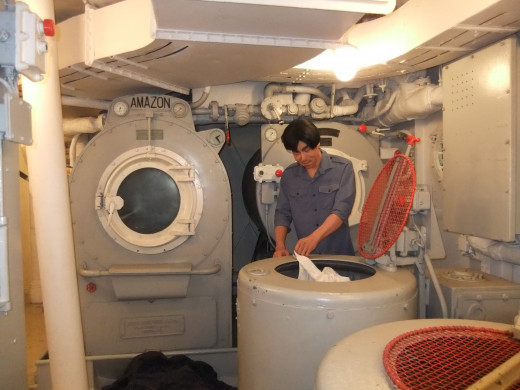 Laundry on HMS Belfast