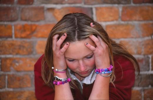 worried teen (model used)