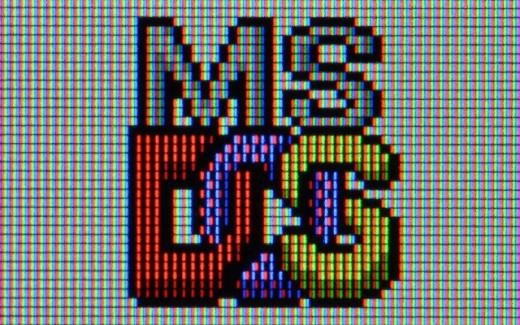 MS DOS logo.