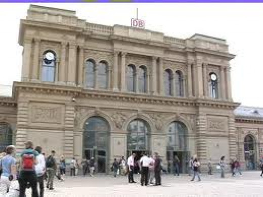 Mainz' main train station.