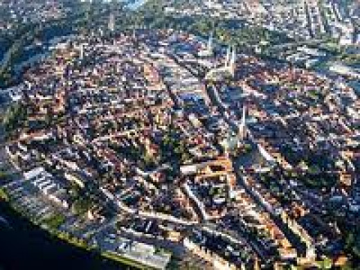 Aerial view of Lubeck