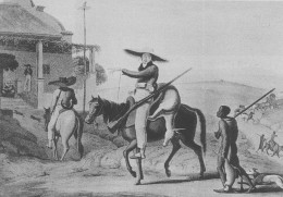 A Boer returning home after a hunt.