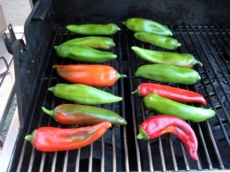 Peppers on the grill