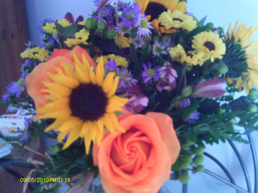 Flowers can brighten a room and your mood