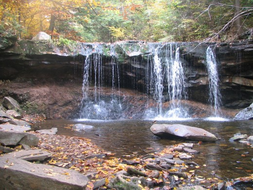 Waterfall at Rickettes Glen State Park in PA