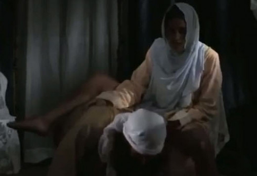 A scene from the Mohammed video