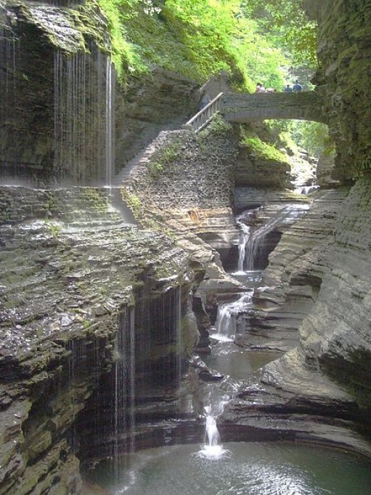 Waterfall at Watkins Glen State Park in NY