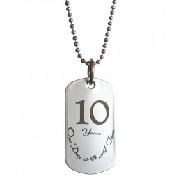10 Year Sobriety Anniversary Dog Tag